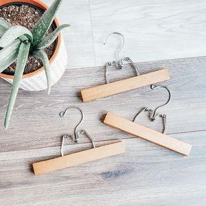 3pc vintage wooden hangers